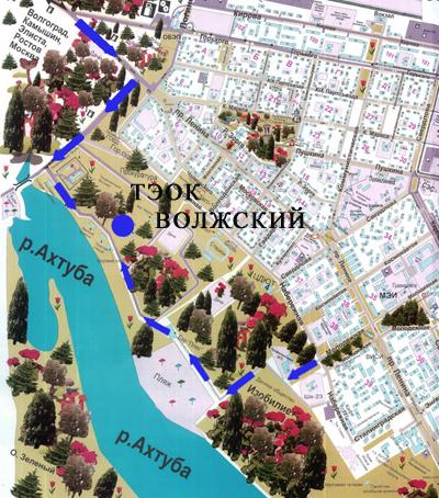 Карта схема комплекса Волжский